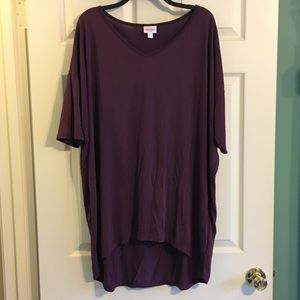 LuLaRoe VNECK Irma Tee 2X High Low Top New Plus sz